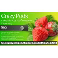 Картридж CRAZY PODS Strawberry LIGHT сменный испаритель для электронной сигареты Juul 5% 50 мг (Клубника)