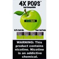 Картридж 4X Pods Green Apple для электронной сигареты Juul 6,5% (Зеленое яблоко)