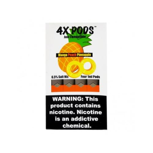 Картридж 4X Pods Mango Peach Pineapple для электронной сигареты Juul 6,5% (Манго, персик, ананас)