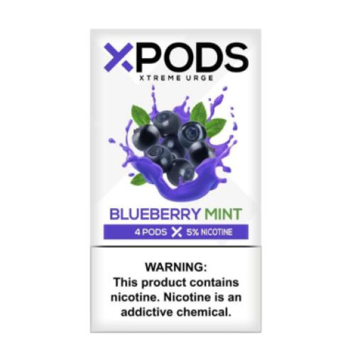 Картридж Xpods Blueberry Mint для электронной сигареты Juul 5% (Черника+мята)