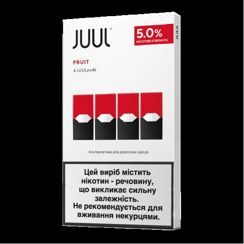 Картридж Juul Fruit испаритель одноразовый для электронной сигареты 5% 50 мг 0,7 мл 4 шт (Фрукты)