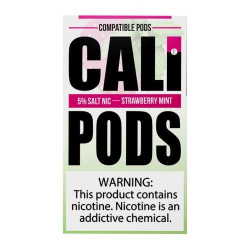 Картридж Cali Pods Strawberry Mint для электронной сигареты Juul 5% ( Клубника, мята)