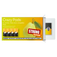 Картридж CRAZY PODS Pear STRONG сменный испаритель для электронной сигареты Juul 5% 50 мг (Груша)