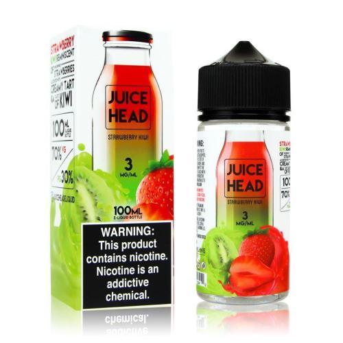 Жидкость для электронных сигарет Juice Head Strawberry Kiwi 3 мг 100 мл (Клубника+киви)