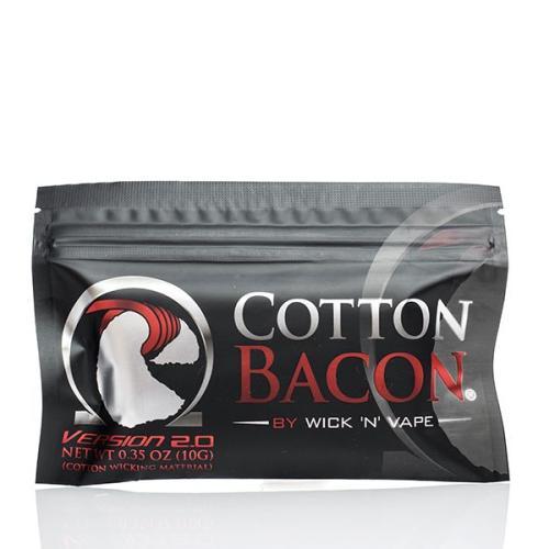 Вата для электронных сигарет Wick 'N' Vape Cotton Bacon v2 10 гр